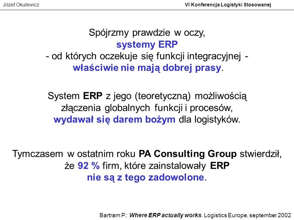 Spójrzmy prawdzie w oczy, systemy ERP - od których oczekuje się funkcji integracyjnej - właściwie nie mają dobrej prasy.