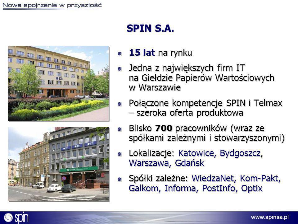 SPIN S.A. 15 lat na rynku. Jedna z największych firm IT na Giełdzie Papierów Wartościowych w Warszawie.