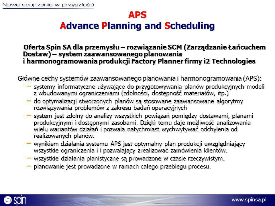 APS Advance Planning and Scheduling