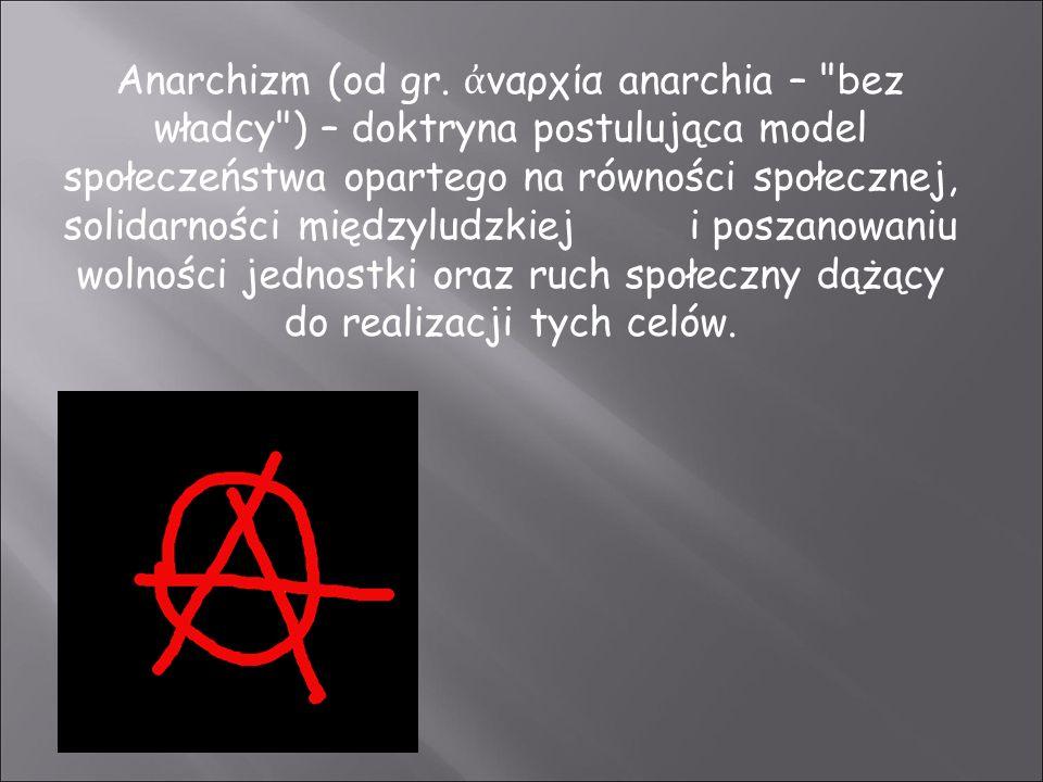 Anarchizm (od gr.