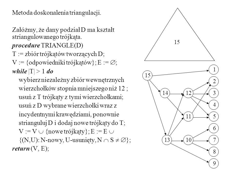 Metoda doskonalenia triangulacji.