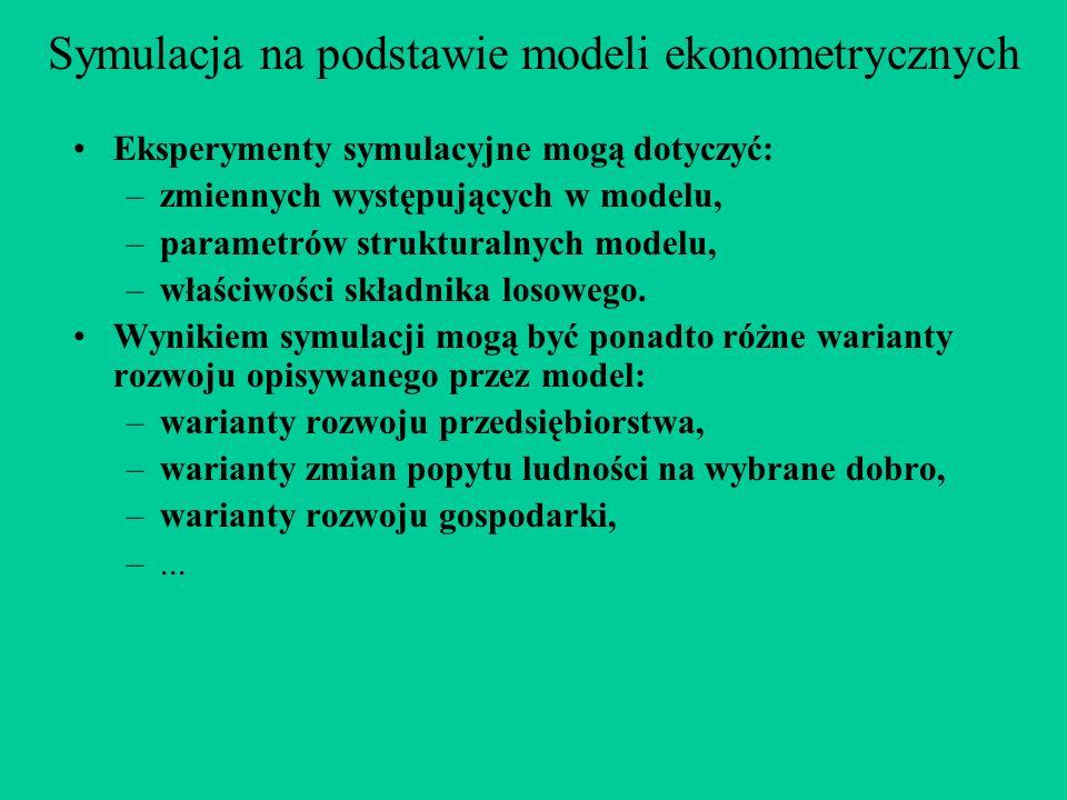 Symulacja na podstawie modeli ekonometrycznych