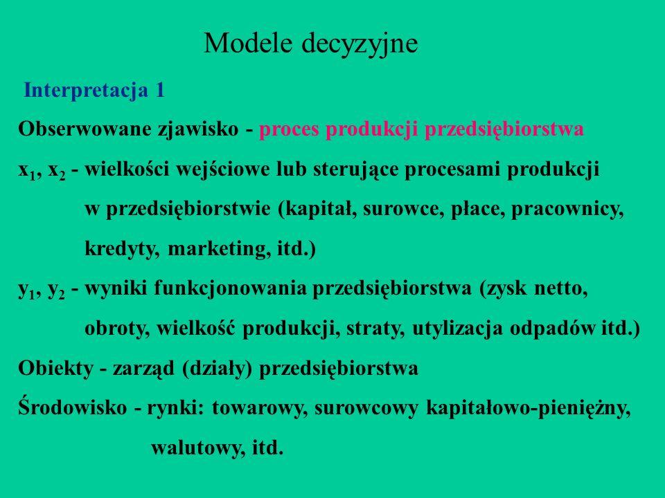 Modele decyzyjne Interpretacja 1