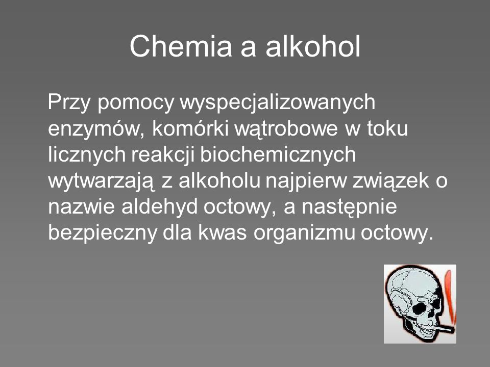 Chemia a alkohol