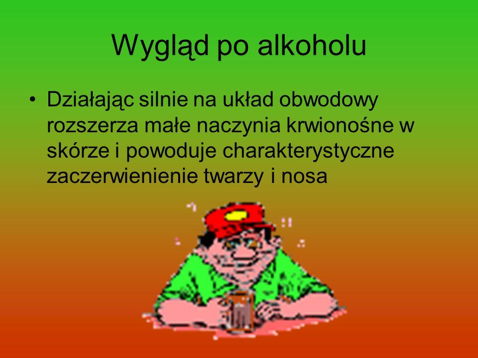 Wygląd po alkoholu