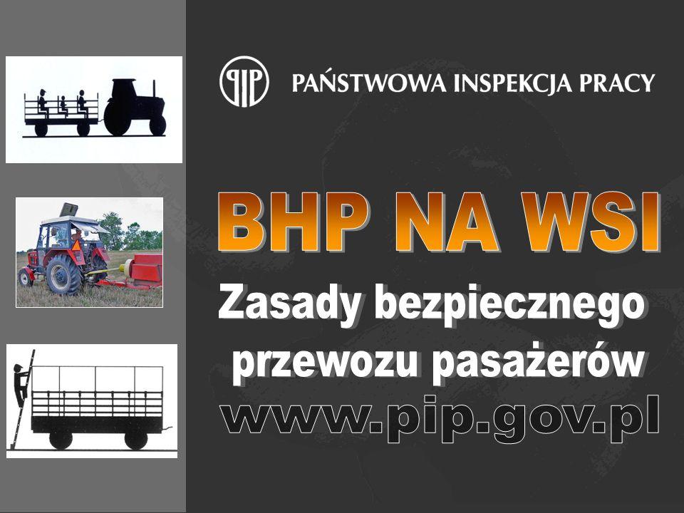 BHP NA WSI Zasady bezpiecznego przewozu pasażerów www.pip.gov.pl