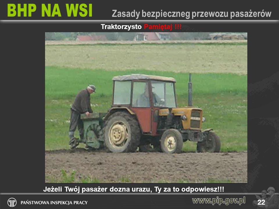 Traktorzysto Pamiętaj !!!
