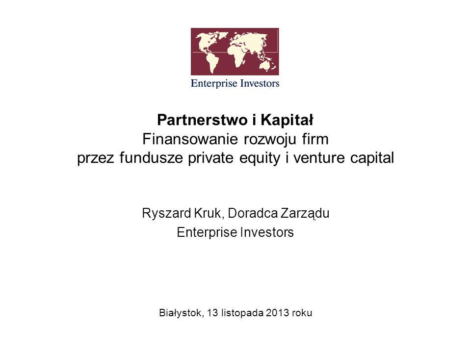 Ryszard Kruk, Doradca Zarządu Enterprise Investors
