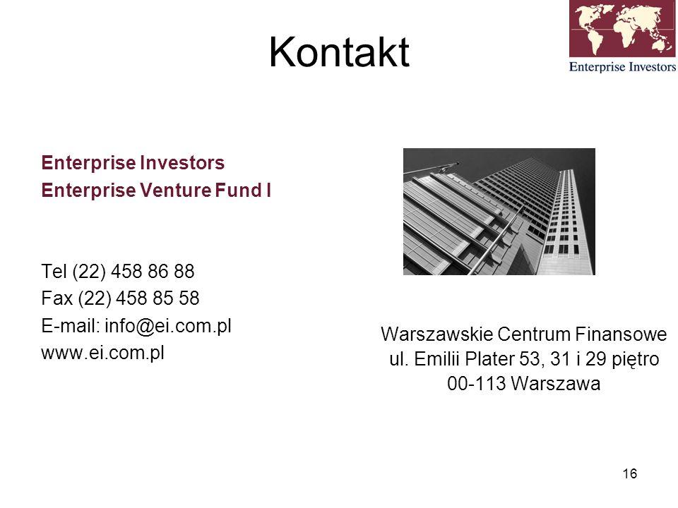 Kontakt Enterprise Investors Enterprise Venture Fund I