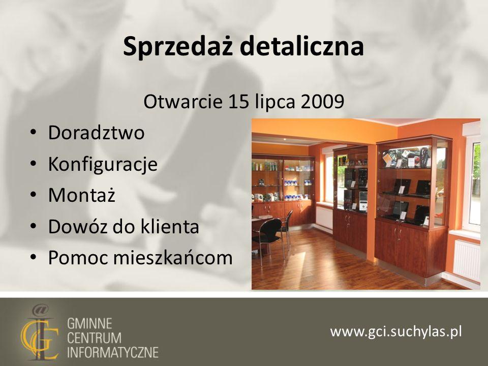 Sprzedaż detaliczna Otwarcie 15 lipca 2009 Doradztwo Konfiguracje