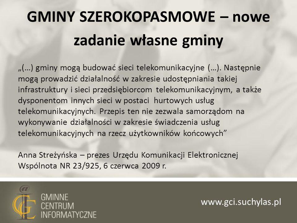 GMINY SZEROKOPASMOWE – nowe zadanie własne gminy