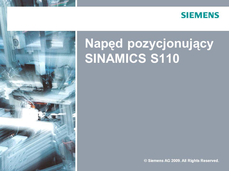 Napęd pozycjonujący SINAMICS S110