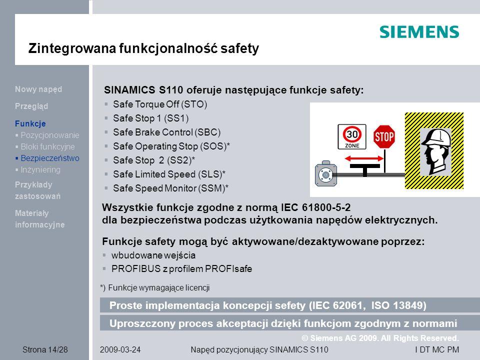 Zintegrowana funkcjonalność safety