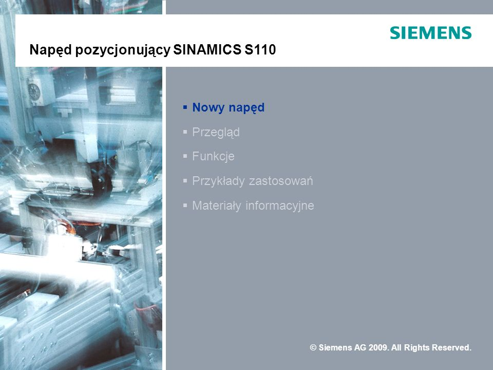 Positioning Drive SINAMICS S110