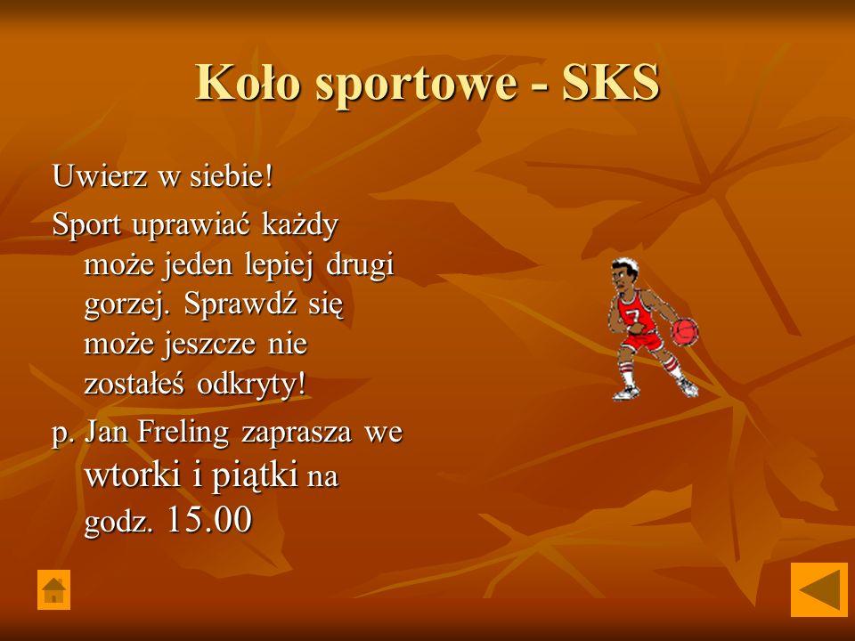 Koło sportowe - SKS Uwierz w siebie!
