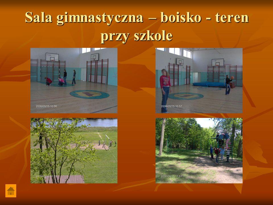 Sala gimnastyczna – boisko - teren przy szkole