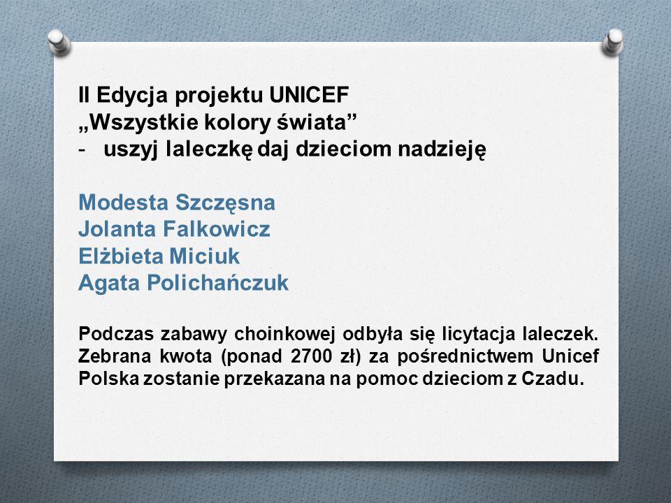 """II Edycja projektu UNICEF """"Wszystkie kolory świata"""