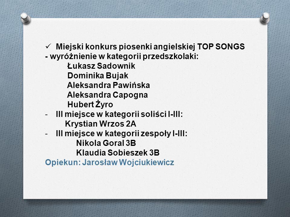 Miejski konkurs piosenki angielskiej TOP SONGS