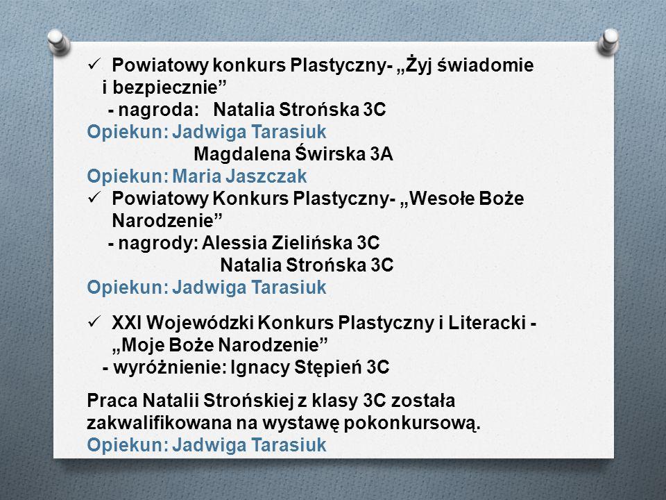 """Powiatowy konkurs Plastyczny- """"Żyj świadomie"""