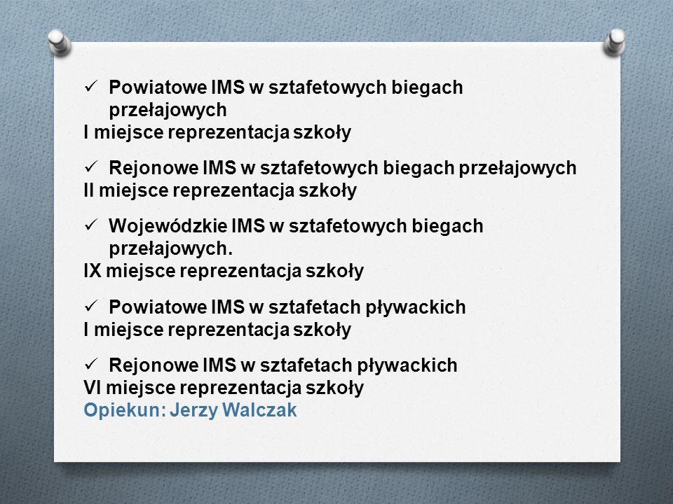 Powiatowe IMS w sztafetowych biegach przełajowych
