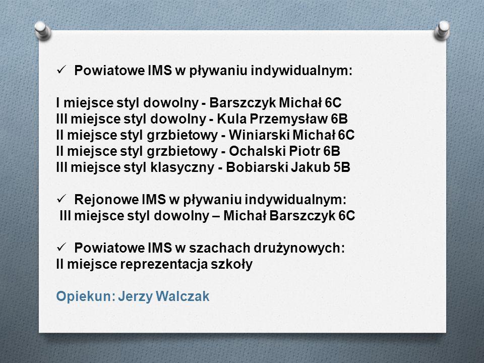 Powiatowe IMS w pływaniu indywidualnym: