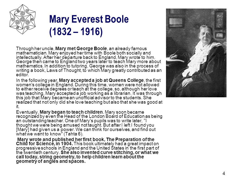 Mary Everest Boole (1832 – 1916)