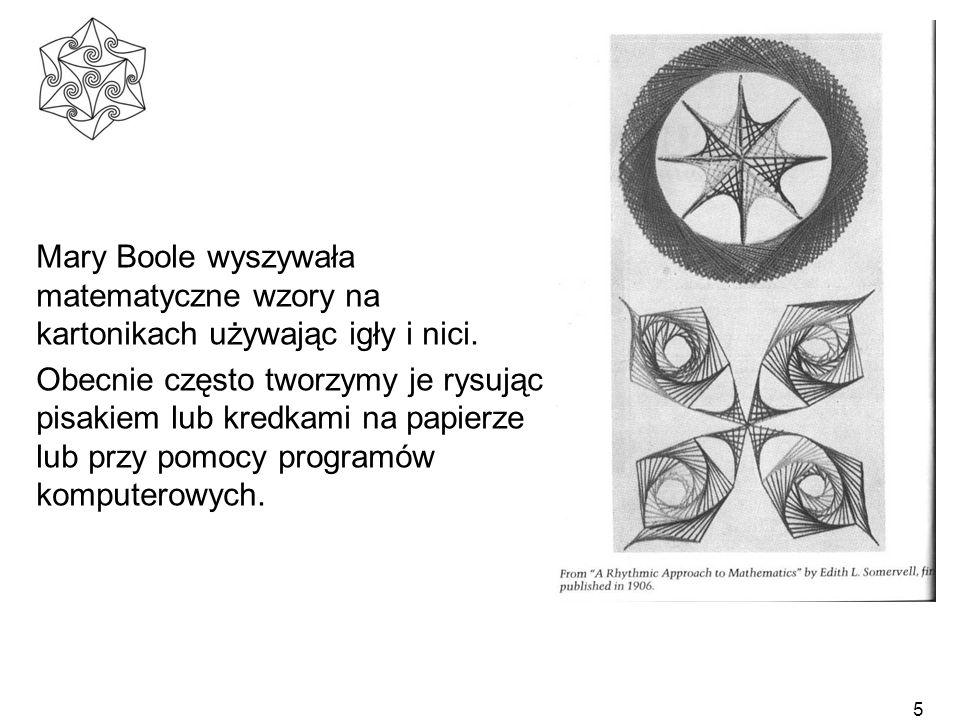 Mary Boole wyszywała matematyczne wzory na kartonikach używając igły i nici.