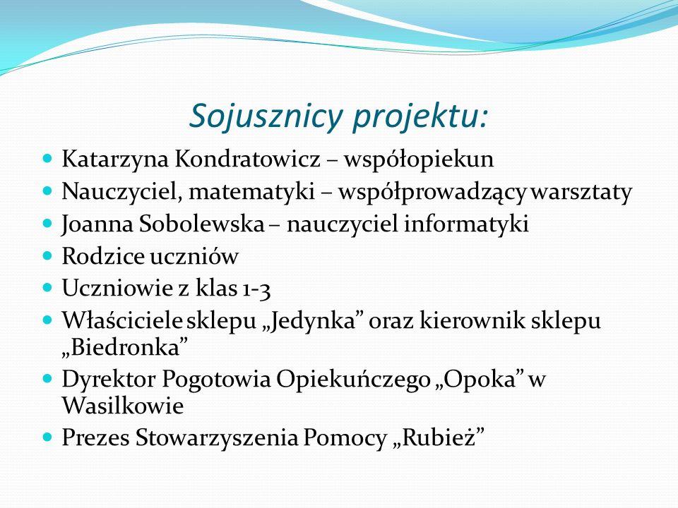Sojusznicy projektu: Katarzyna Kondratowicz – współopiekun