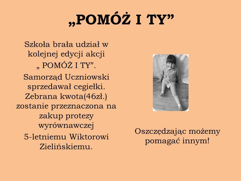 """""""POMÓŻ I TY Szkoła brała udział w kolejnej edycji akcji"""