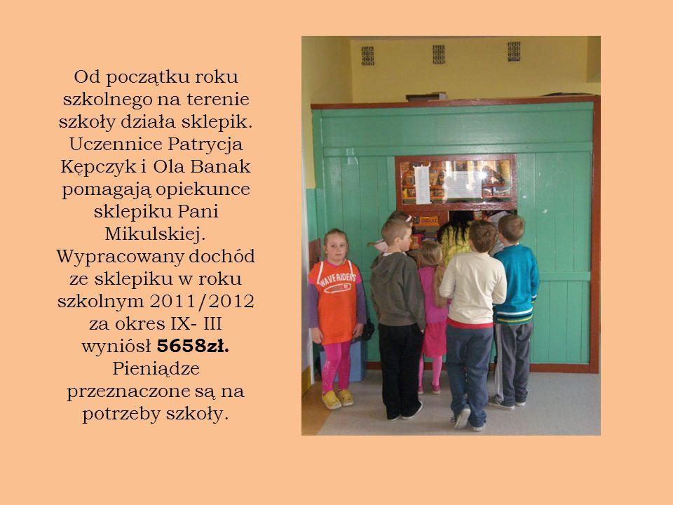 Od początku roku szkolnego na terenie szkoły działa sklepik