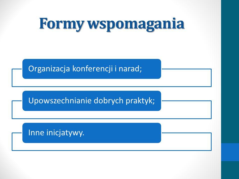 Formy wspomagania Organizacja konferencji i narad;