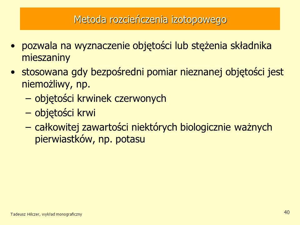 Metoda rozcieńczenia izotopowego