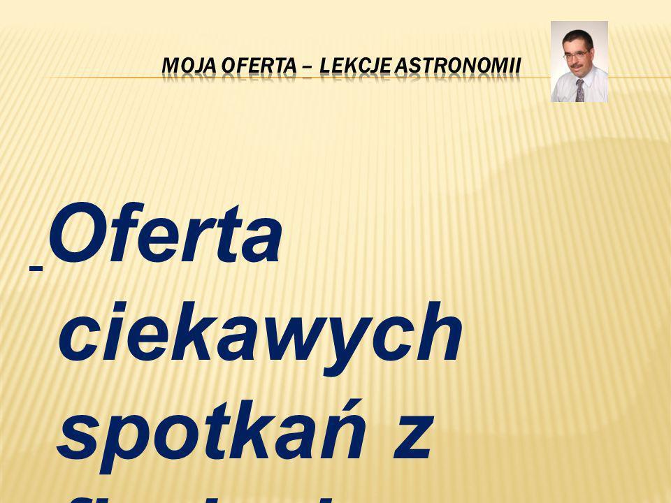 Moja oferta – lekcje astronomii