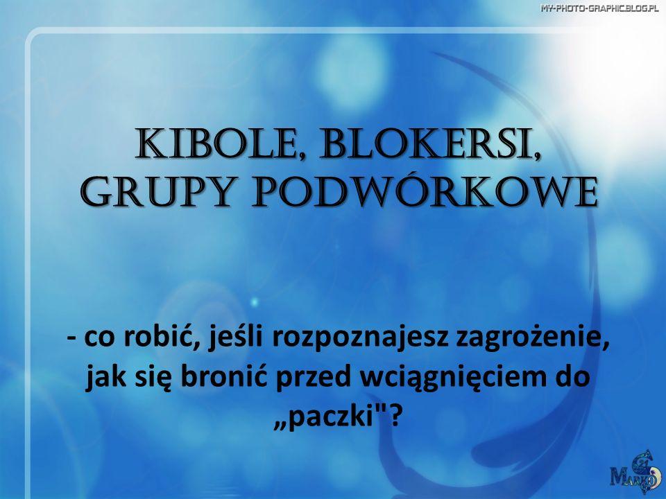 Kibole, blokersi, grupy podwórkowe