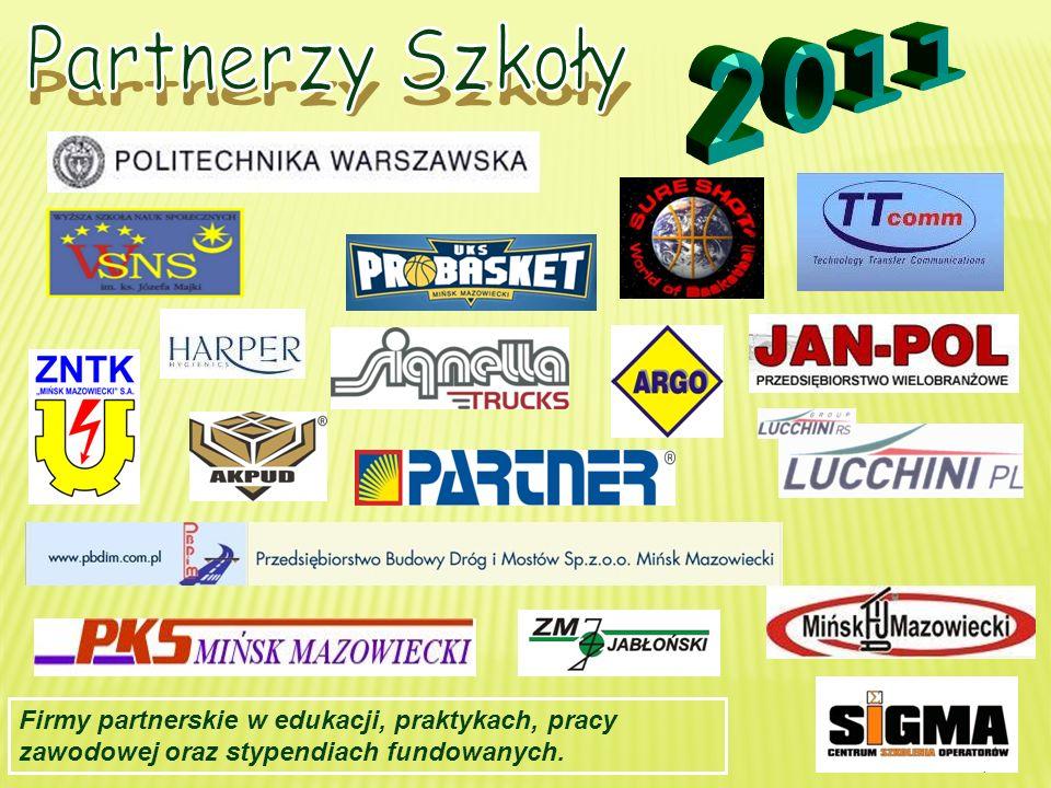 Partnerzy Szkoły 2011.