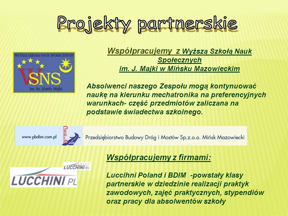 Projekty partnerskie Współpracujemy z Wyższą Szkołą Nauk Społecznych