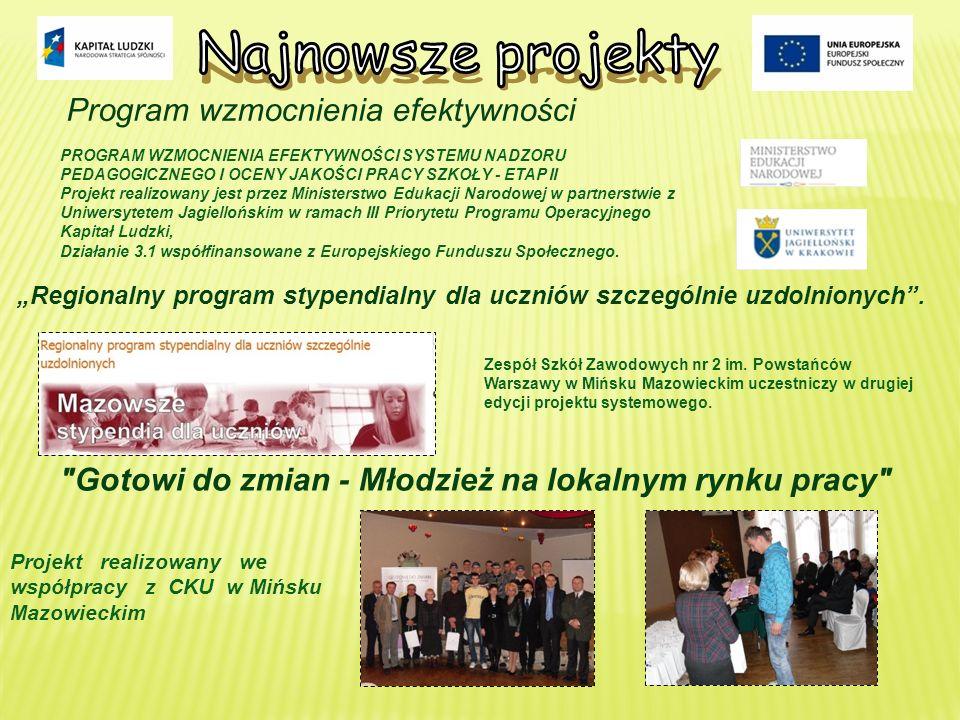Najnowsze projekty Program wzmocnienia efektywności