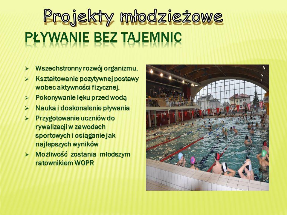 Projekty młodzieżowe Pływanie bez tajemnic