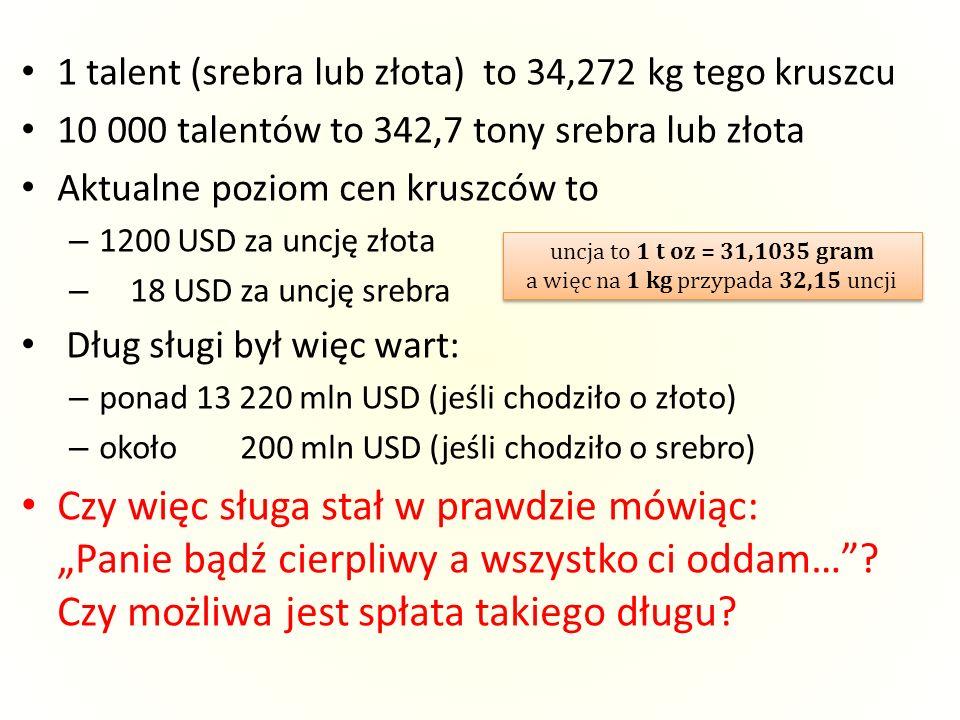 uncja to 1 t oz = 31,1035 gram a więc na 1 kg przypada 32,15 uncji