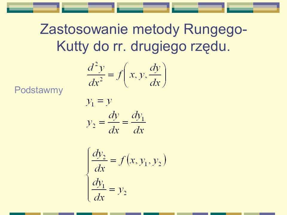 Zastosowanie metody Rungego-Kutty do rr. drugiego rzędu.