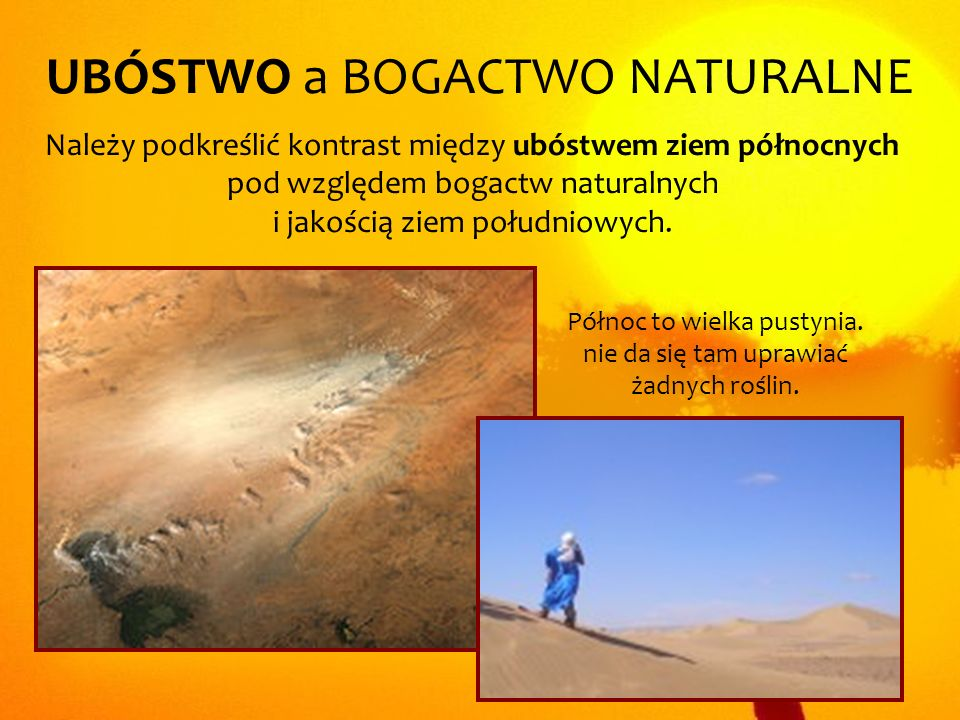 UBÓSTWO a BOGACTWO NATURALNE