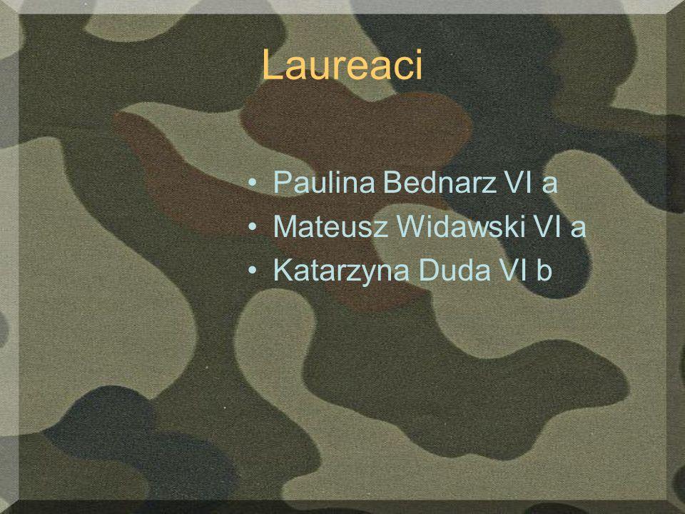 Laureaci Paulina Bednarz VI a Mateusz Widawski VI a