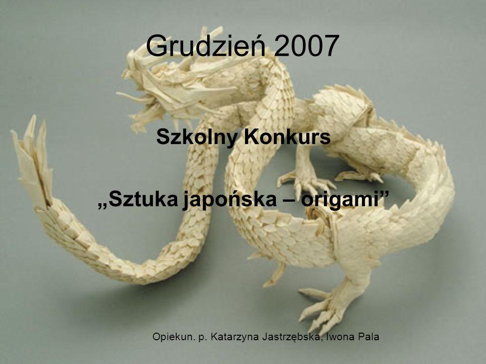 """""""Sztuka japońska – origami"""