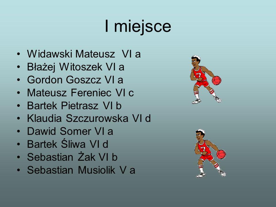 I miejsce Widawski Mateusz VI a Błażej Witoszek VI a