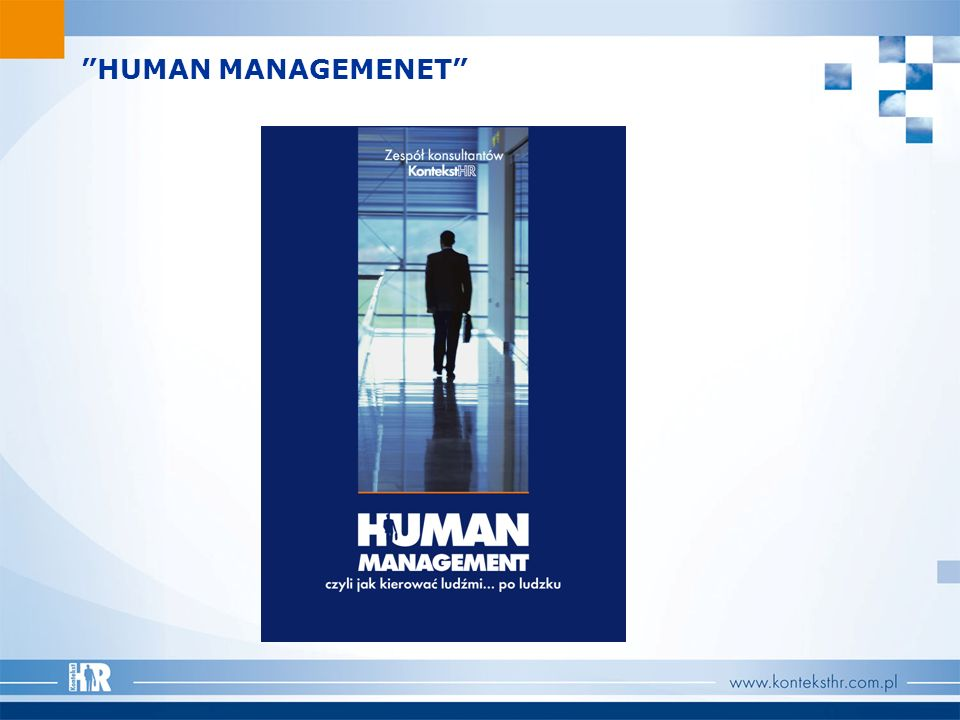 HUMAN MANAGEMENET KontekstHR Team of Consultants HUMAN MANAGEMENT