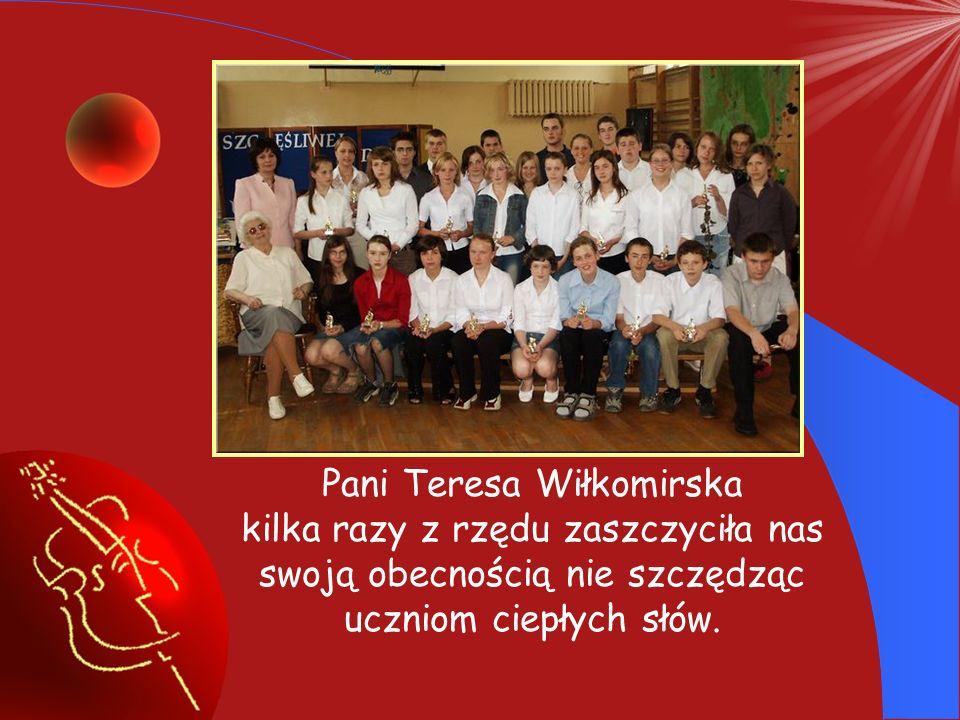 Pani Teresa Wiłkomirska kilka razy z rzędu zaszczyciła nas