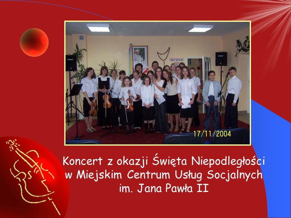 Koncert z okazji Święta Niepodległości w Miejskim Centrum Usług Socjalnych im. Jana Pawła II