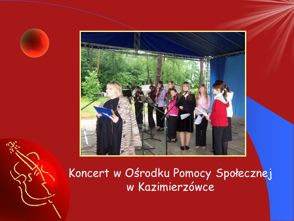 Koncert w Ośrodku Pomocy Społecznej w Kazimierzówce