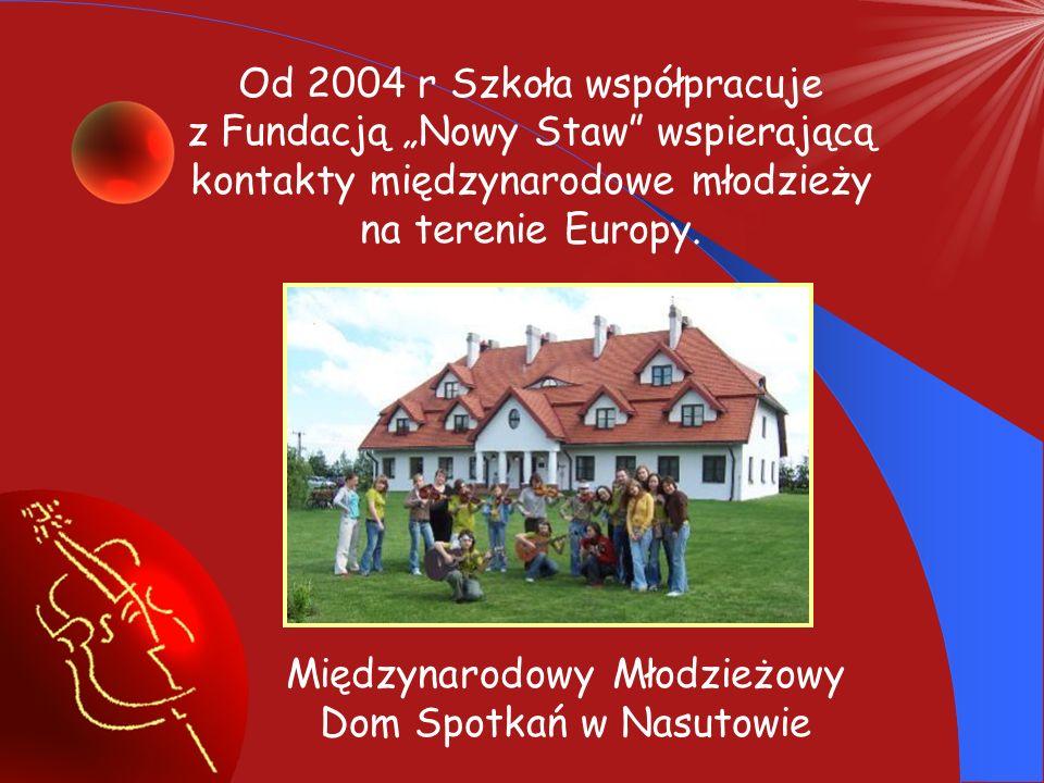 """Od 2004 r Szkoła współpracuje z Fundacją """"Nowy Staw wspierającą"""