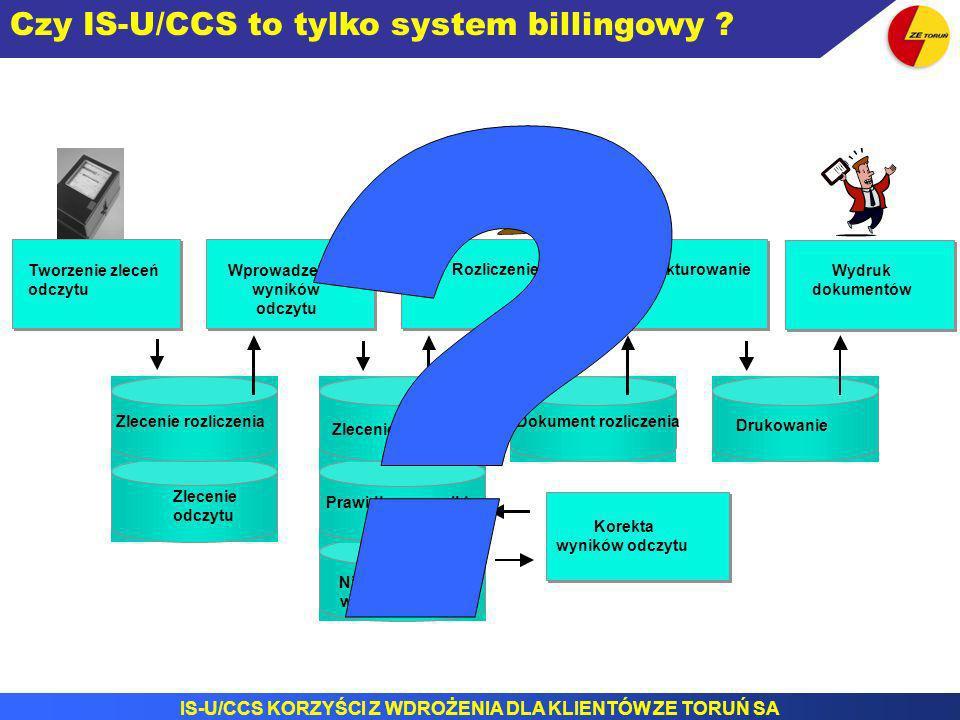 Czy IS-U/CCS to tylko system billingowy Zlecenie odczytu Invoicing